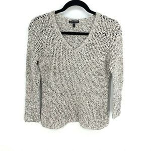 Eileen Fisher 100% Cotton L/S Loose Knit Pullover